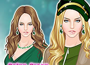 绿色时尚性感公主
