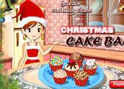 美女教你做圣诞蛋糕球