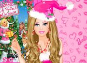 圣诞粉红芭比娃娃
