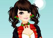 华丽圣诞装美少女