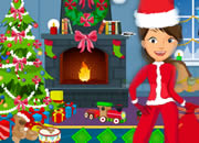 美女小贼逃出圣诞派对