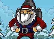 送圣诞老人飞去月球