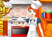 可爱美女厨师
