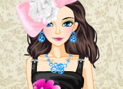 淡紫色兰花裙