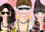 流行K-pop明星少女
