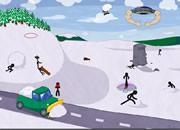 杀死滑雪的小黑人
