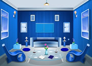 blue living room escape