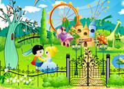 快乐公主和王子的花园-