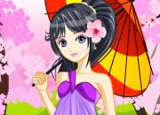 可爱日本樱花少女