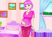 可爱怀孕的女孩