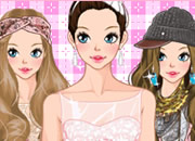Spring Pink Girl  Dress Up