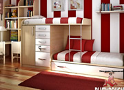 Kids Red Bedroom hidden