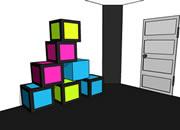 逃出彩色方块密室