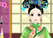 文雅的中国古装公主