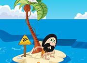 逃出鲨鱼围困的小岛