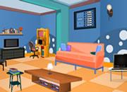 逃出蓝色风格客厅