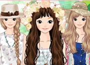 夏季野餐的时尚少女
