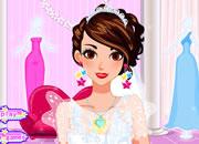 短发时尚的婚礼新娘