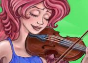 美女教你演奏小提琴