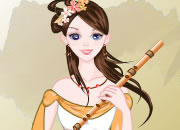 Ancient Chinese Musician Girl