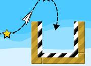 清新的纸飞机游戏