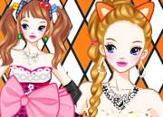橘色唇膏猫耳萝莉