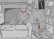 小鬼当家:暴虐小偷-男孩深夜一个人在房中玩游戏,突然进来一个..