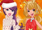 圣诞靓装姐妹