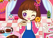 阿sue接咖啡和甜甜圈