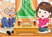 爷爷和奶奶的寿司晚宴
