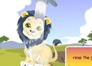 照顾可爱小狮子