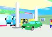 找小绿人逃脱加油站