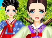 韩国现代婚纱礼服-韩国人结婚时一定会穿上传统的韩服做为礼服..