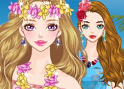 夏威夷渡假花裙子