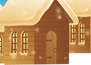 逃出圣诞冬季村庄