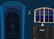 Dark Blue House Escape