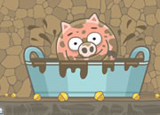 笨笨猪玩泥浆