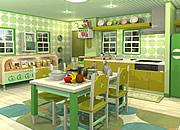 逃出苹果绿色厨房2