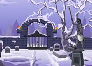 逃离雪后庭院