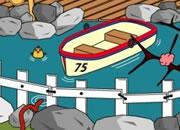 逃出小船池塘