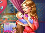 照料可爱小婴儿-这是一个模拟看护小婴儿的游戏,冷了为婴儿..