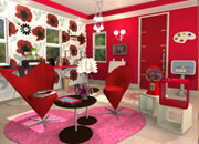 Candy Rooms Escape 15:Crimson Red Modern