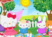 捉迷藏凯蒂猫-可爱的凯蒂猫们玩起了捉迷藏,你来快眯找到它..