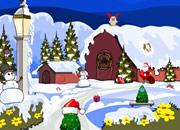 逃离圣诞节雪地小屋