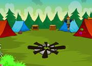 逃出旅游野营地