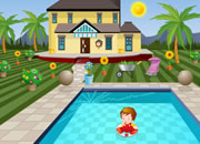 Swimming pool house escape2