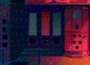逃离雨中大街