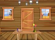牛仔男逃出森林房子