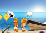 快乐小子海滩逃脱