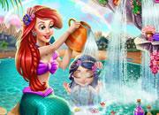 美人魚寶貝洗澡